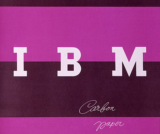 Paul Rand IBM Carbon Paper