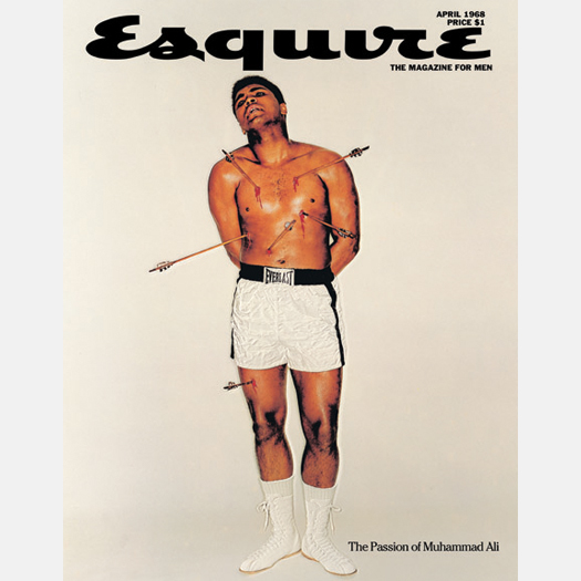 Muhammad Ali as St. Sebastian for a 1968 cover of Esquire