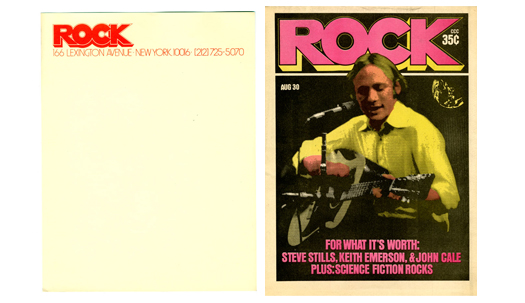 Rock Magazine and Letterhead
