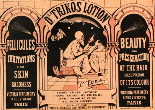 Dr. Trikos Lotion, circa 1880, attributed to Emily Levy